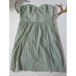 J. CREW Silk Dust Shale Bridesmaid's Dress